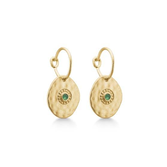 Esma earrings Green Agate fra Enamel Copenhagen i Forgylt-Sølv Sterling 925