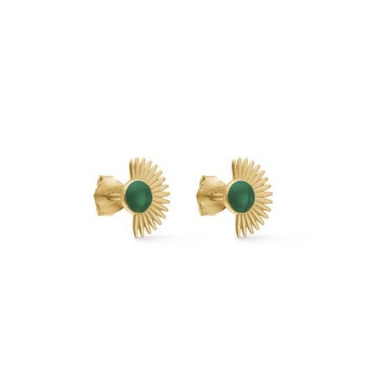 Soleil earsticks Petrol Green von Enamel Copenhagen in Vergoldet-Silber Sterling 925