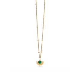 Soleil necklace Petrol Green