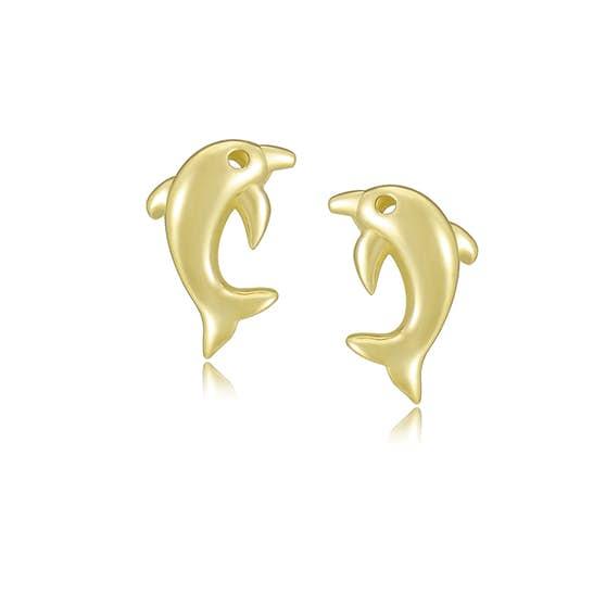 Dolphin earsticks fra A-Hjort i Forgylt-Sølv Sterling 925