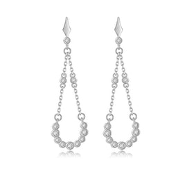 Alma Zircons earrings from A-Hjort in Silver Sterling 925
