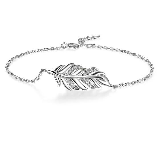 Big Leaf bracelet von A-Hjort in Silber Sterling 925|Blank