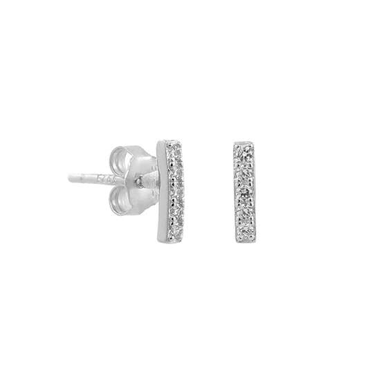 Alma Zircons earsticks från A-Hjort i Silver Sterling 925