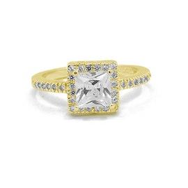 Spring ring von A-Hjort in Vergoldet-Silber Sterling 925
