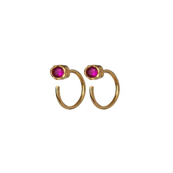 Mesa Pink earrings fra Maanesten i Forgyldt-Sølv Sterling 925