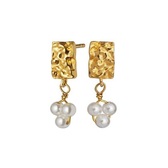 Iona earrings fra Maanesten i Forgylt-Sølv Sterling 925