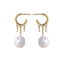 Nellie White earrings