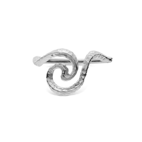 Lilja ring from Maanesten in Silver Sterling 925| Hammered,Blank