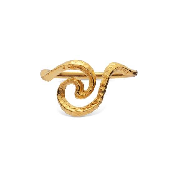 Lilja ring fra Maanesten i Forgylt-Sølv Sterling 925| Hamret,Blank