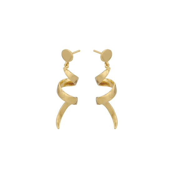 Small Loop earrings von Pernille Corydon in Vergoldet-Silber Sterling 925