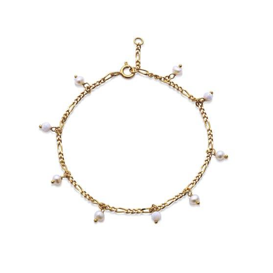 Lula White bracelet von Maanesten in Vergoldet-Silber Sterling 925 Blank