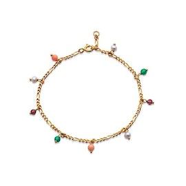 Salma color bracelet fra Maanesten i Forgylt-Sølv Sterling 925|Blank