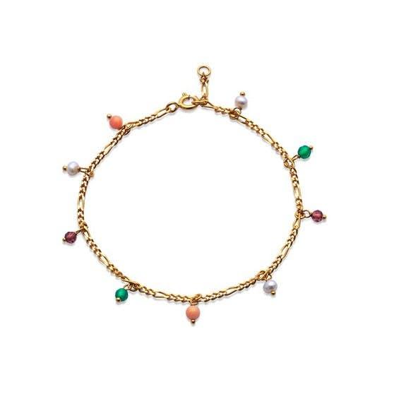 Salma color bracelet von Maanesten in Vergoldet-Silber Sterling 925|Blank