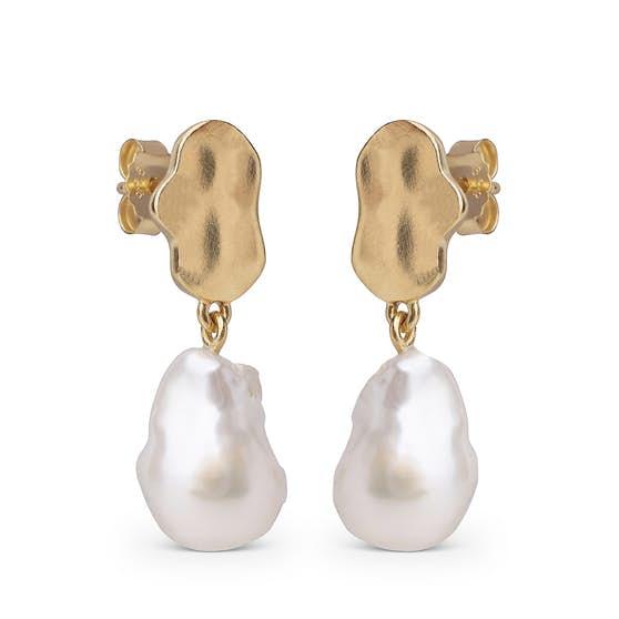 Alua earrings från Enamel Copenhagen i Förgyllt-Silver Sterling 925