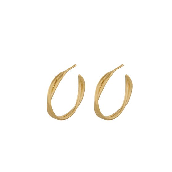 Paris hoops from Pernille Corydon in Goldplated-Silver Sterling 925