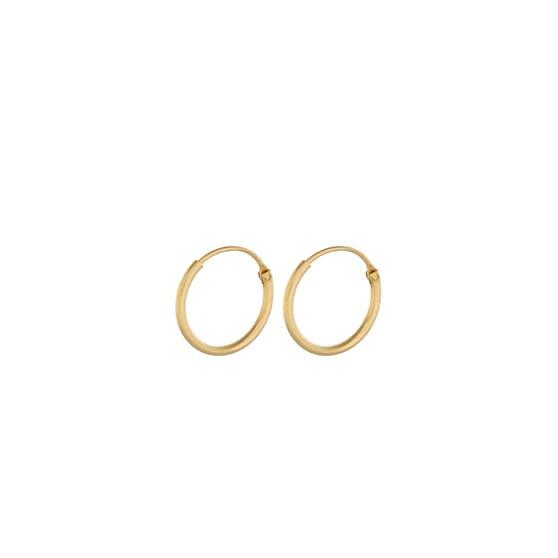 Tiny Plain hoops von Pernille Corydon in Vergoldet-Silber Sterling 925