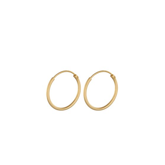Micro Plain hoops from Pernille Corydon in Goldplated-Silver Sterling 925