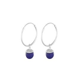 Lapis Lazuli hoops