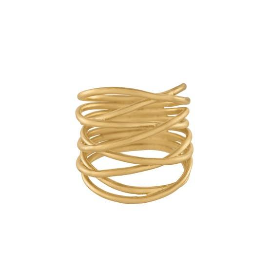 Paris ring von Pernille Corydon in Vergoldet-Silber Sterling 925