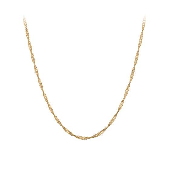 Singapore necklace short von Pernille Corydon in Vergoldet-Silber Sterling 925 Blank