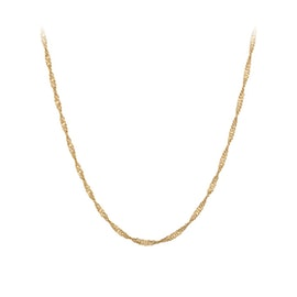 Singapore necklace long from Pernille Corydon in Goldplated-Silver Sterling 925|Blank