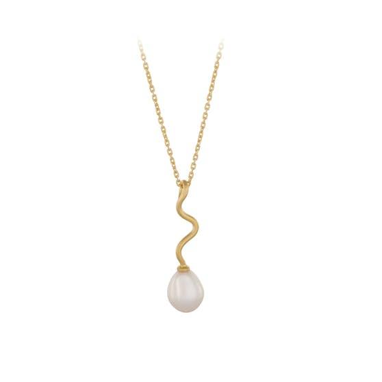 Bay necklace fra Pernille Corydon i Forgylt-Sølv Sterling 925| Matt,Blank