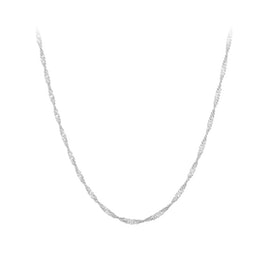 Singapore necklace long from Pernille Corydon in Silver Sterling 925 Blank