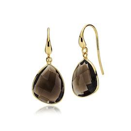 Orient earrings Smoky från Izabel Camille i Förgyllt-Silver Sterling 925