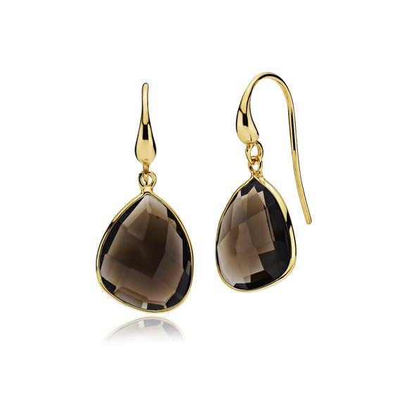 Orient earrings Smoky fra Izabel Camille i Forgylt-Sølv Sterling 925