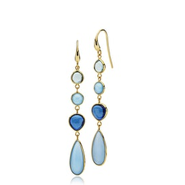 Skyline earrings Blue long