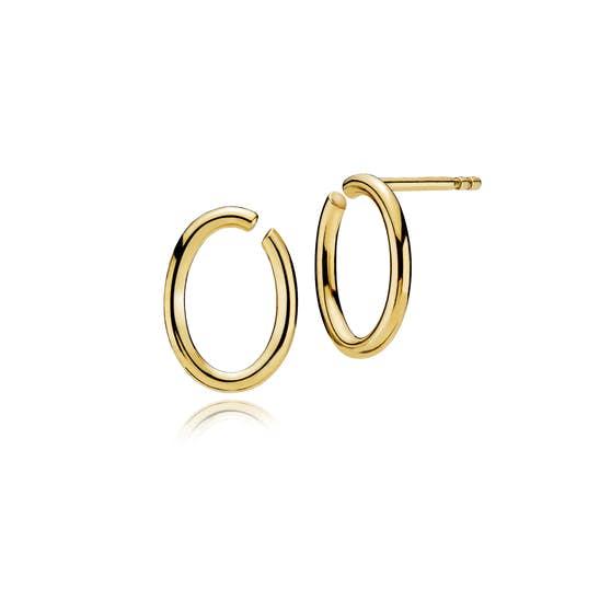 Universe earsticks small von Izabel Camille in Vergoldet-Silber Sterling 925