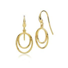 Universe earrings von Izabel Camille in Vergoldet-Silber Sterling 925