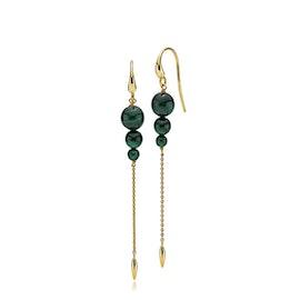 Miss Pearl earrings long Malakit