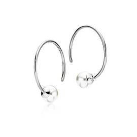 Miss Pearl medium creols White from Izabel Camille in Silver Sterling 925