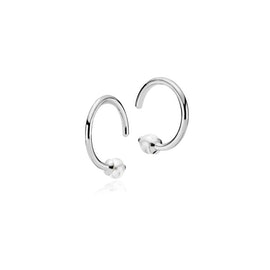 Miss Pearl small creol White from Izabel Camille in Silver Sterling 925