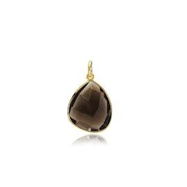 Orient pendant Smoky från Izabel Camille i Förgyllt-Silver Sterling 925
