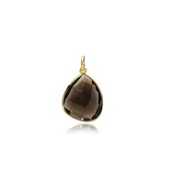 Orient pendant Smoky from Izabel Camille in Goldplated-Silver Sterling 925