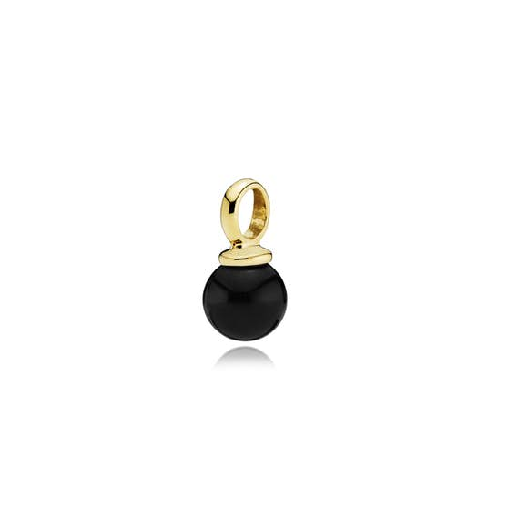 New Pearly pendant Black from Izabel Camille in Goldplated-Silver Sterling 925