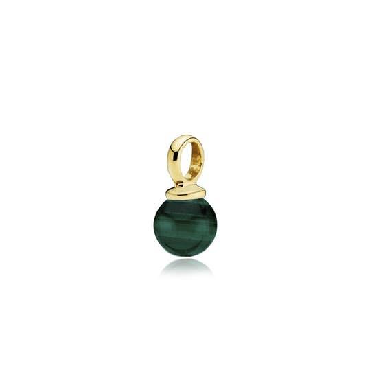 New Pearly pendant Malakit fra Izabel Camille i Forgylt-Sølv Sterling 925