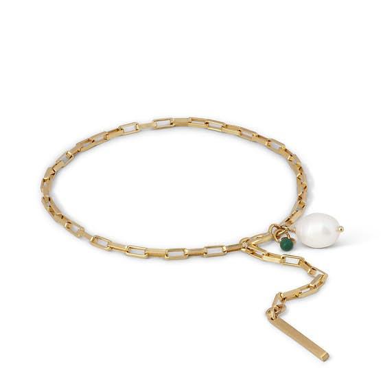 Azra bracelet fra Enamel Copenhagen i Forgylt-Sølv Sterling 925|Blank