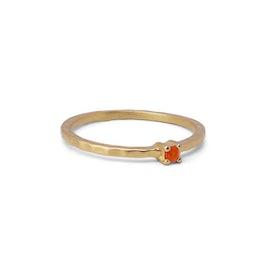 Live ring Orange Chalcedony