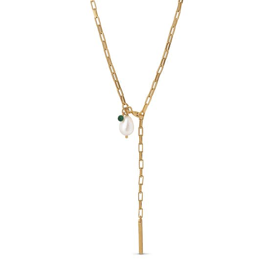 Azra necklace fra Enamel Copenhagen i Forgyldt-Sølv Sterling 925|Blank