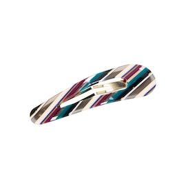Click Hair Clip Petrol Stripe