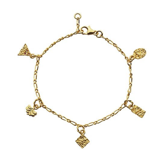 Risco bracelet von Maanesten in Vergoldet-Silber Sterling 925| Matt,Blank