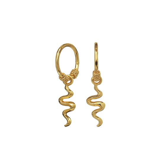 Aryah earrings von Maanesten in Vergoldet-Silber Sterling 925