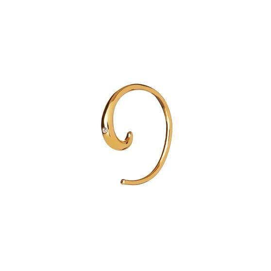 Emma Petit earring from Maanesten in Goldplated-Silver Sterling 925