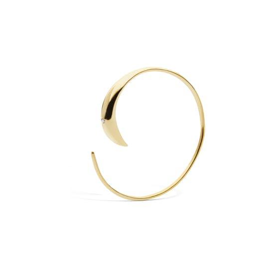 Emma 1 Stone earring från Maanesten i Förgyllt-Silver Sterling 925