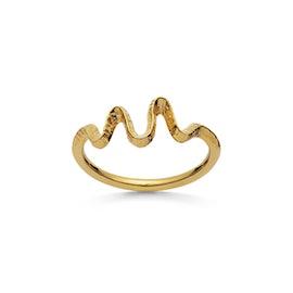 Sonar ring von Maanesten in Vergoldet-Silber Sterling 925| Gehämmert,Blank