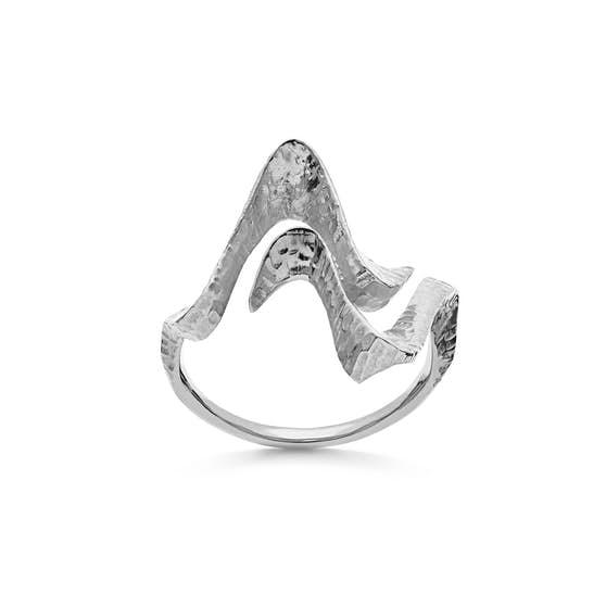 Laguna ring från Maanesten i Silver Sterling 925| Hamred,Blank