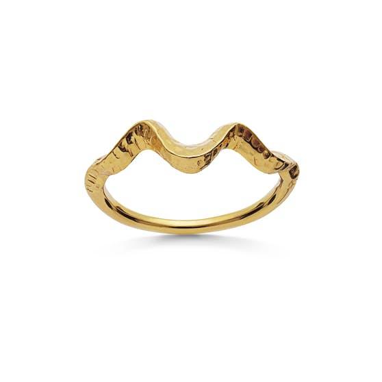 Arvia ring from Maanesten in Goldplated-Silver Sterling 925| Matt,Blank